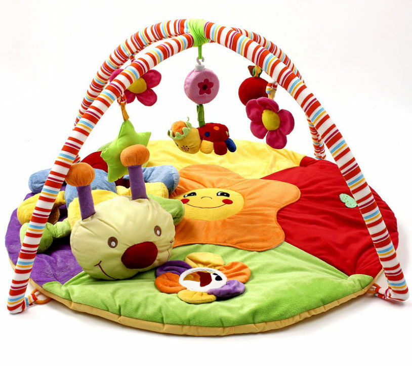 Baby Musical Play Mat Free Tummy Time Caterpillar Soft