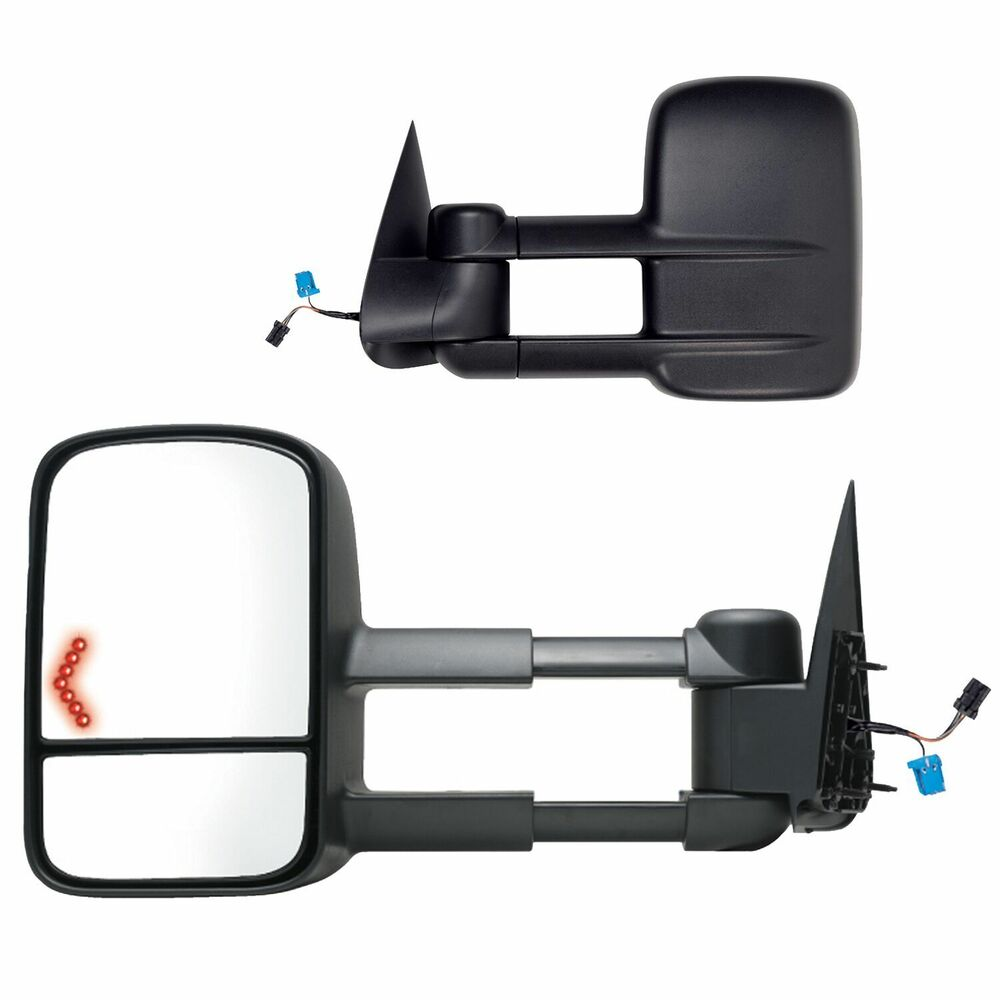 2003 2006 chevy silverado suburban power heated turn signal towing mirror pair ebay. Black Bedroom Furniture Sets. Home Design Ideas