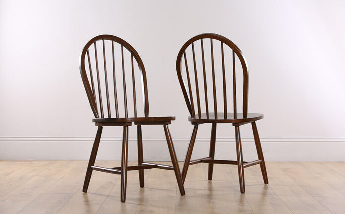 2 4 6 8 windsor dark finish wooden dining room chairs ebay