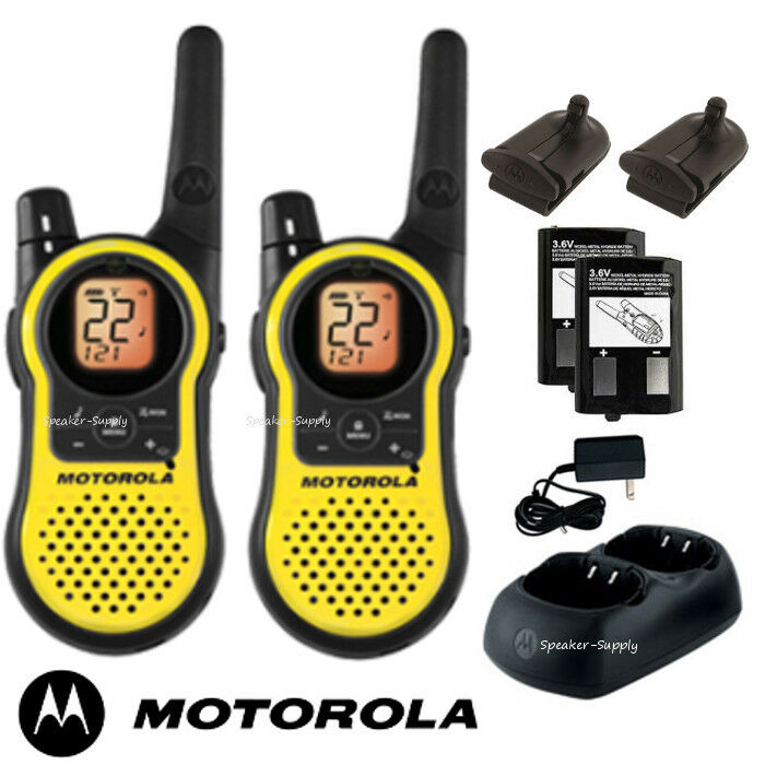 motorola talkabout mh230r walkie talkie pair set 23 mile range two way radio new 843677000115 ebay. Black Bedroom Furniture Sets. Home Design Ideas