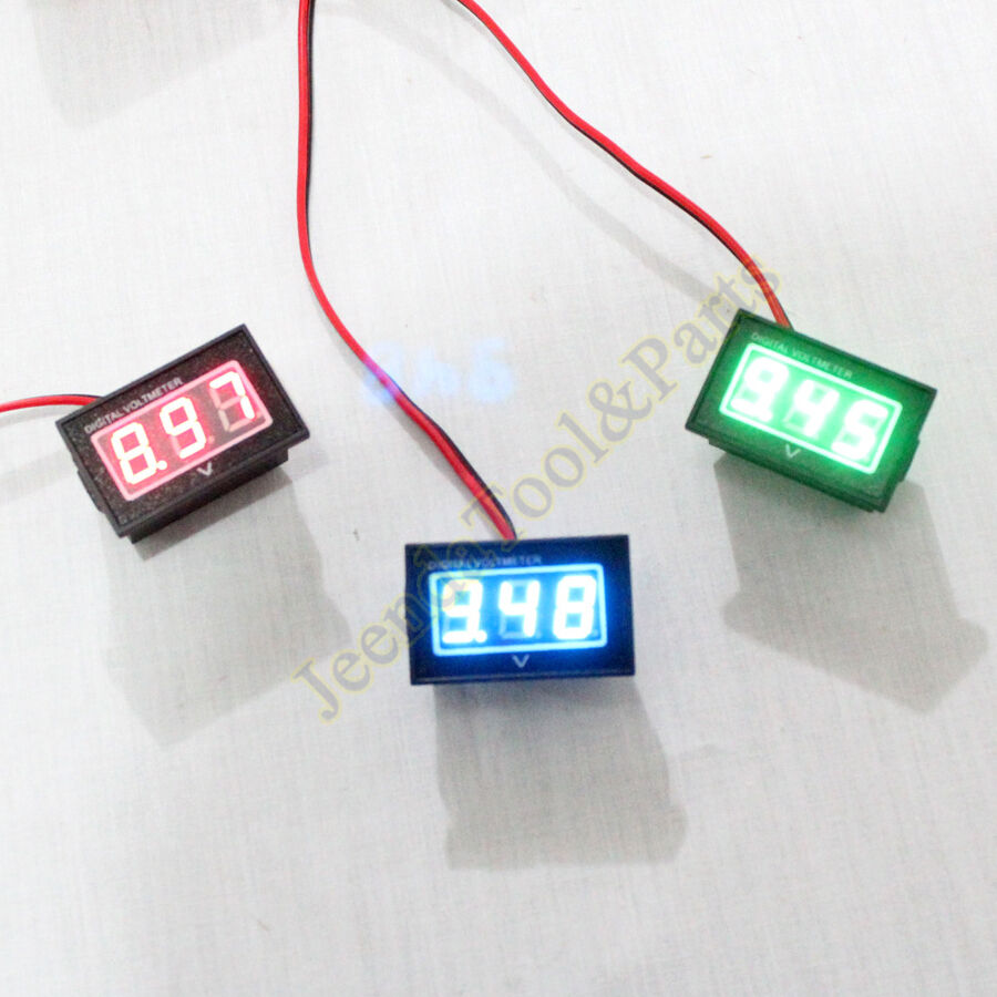 waterproof monitor 12v battery meter 2 5 30v dc auto gauge digital voltmeter led ebay. Black Bedroom Furniture Sets. Home Design Ideas