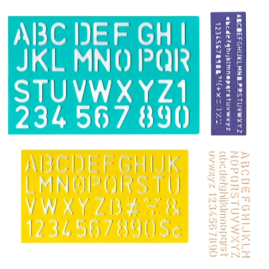Stencil set 5mm to 30mm alphabet letters number plastic for Large plastic alphabet letters