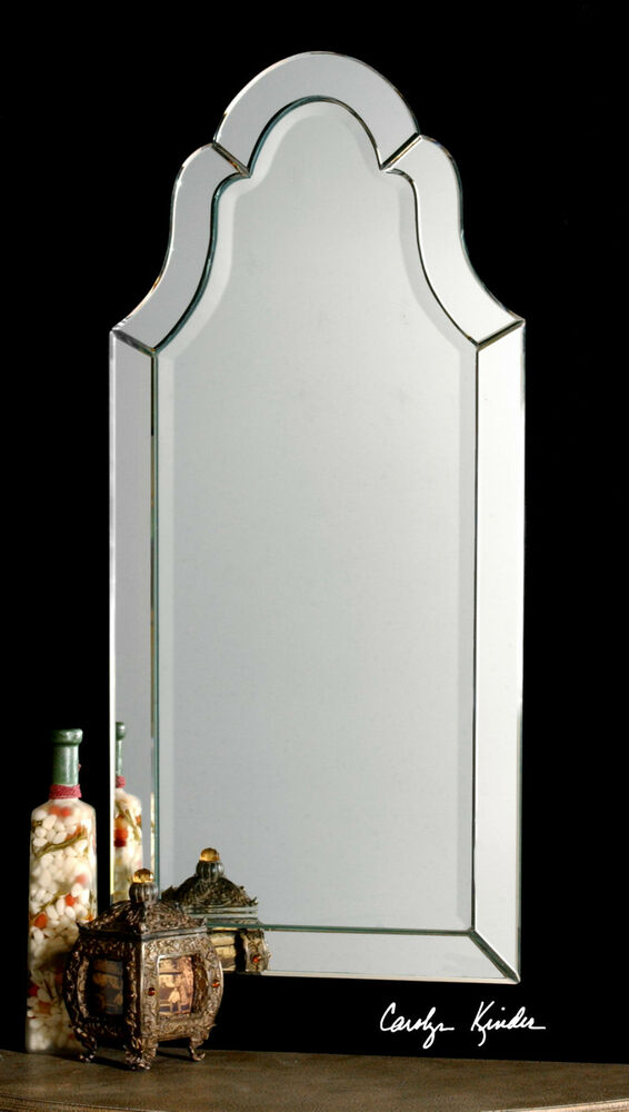 New Stately 44 Silver Frameless Arched Beveled Wall