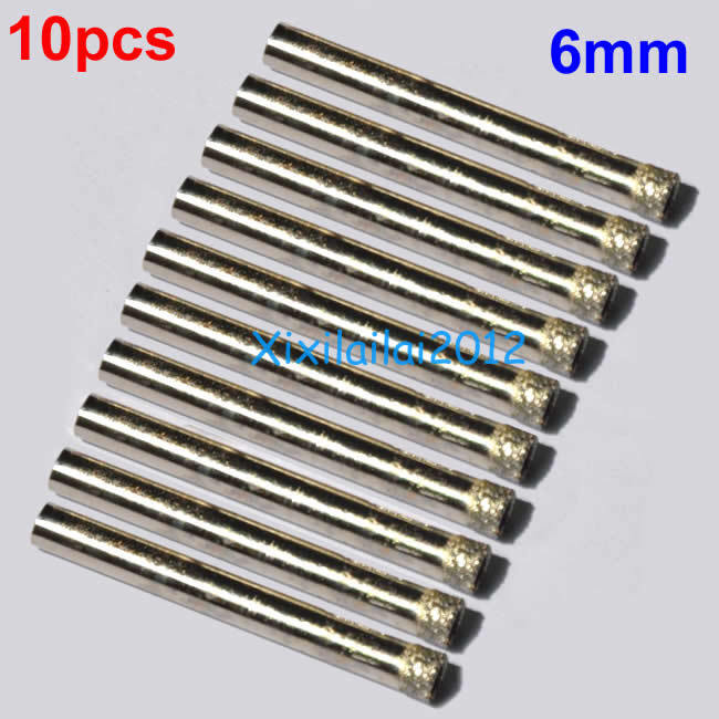 10pcs 6mm 1 4 Quot Inch Diamond Coated Core Drill Bit Hole Saw