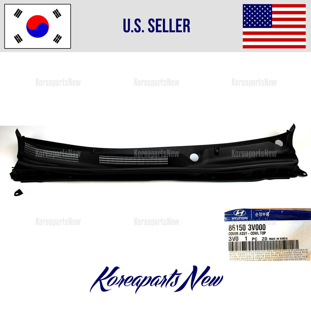 Cowl panel windshield wiper motor cover 861503v000 hyundai for I s bains cowling