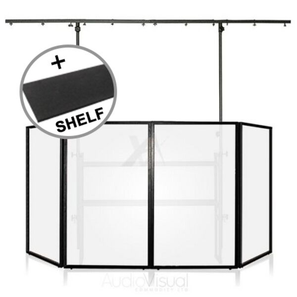 Gorilla Mobile Dj 4ft Disco Stand Lighting Booth Screen