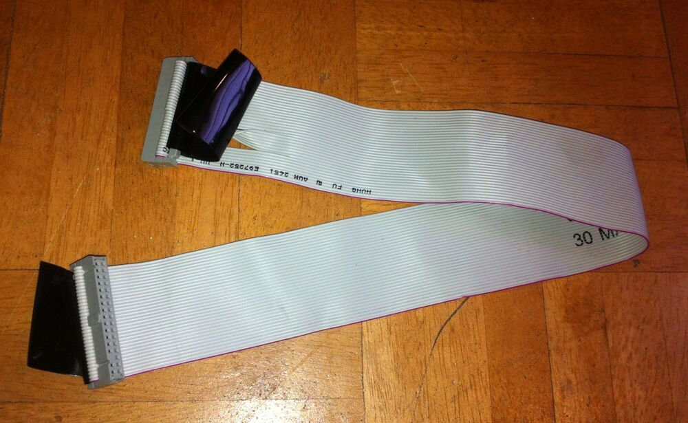34 Pin Ribbon Cable : Floppy drive quot ribbon cable pin used ebay