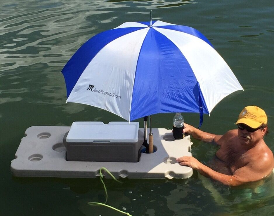 Floating Bar With Cooler And Umbrella Ebay