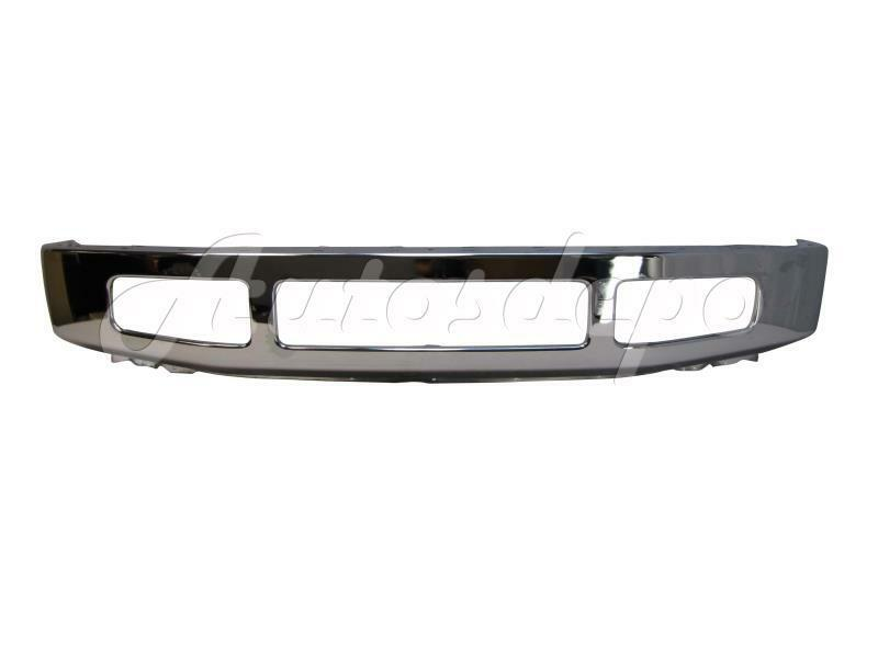 for 2008 2010 super duty f250 f350 front bumper face bar chrome w o opening hole ebay. Black Bedroom Furniture Sets. Home Design Ideas