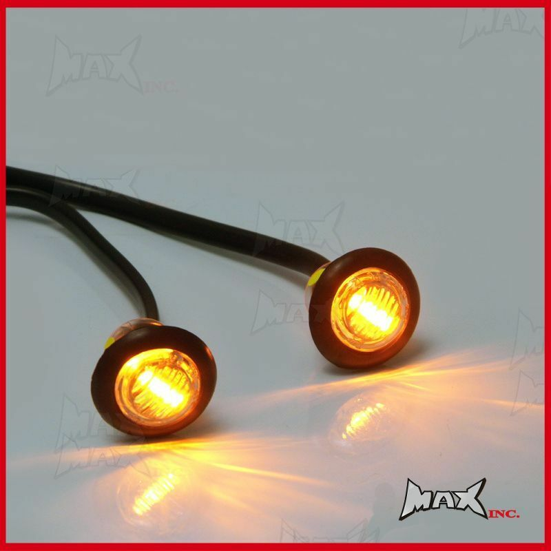 amber 12v round flush mount led mini marker lights ebay. Black Bedroom Furniture Sets. Home Design Ideas