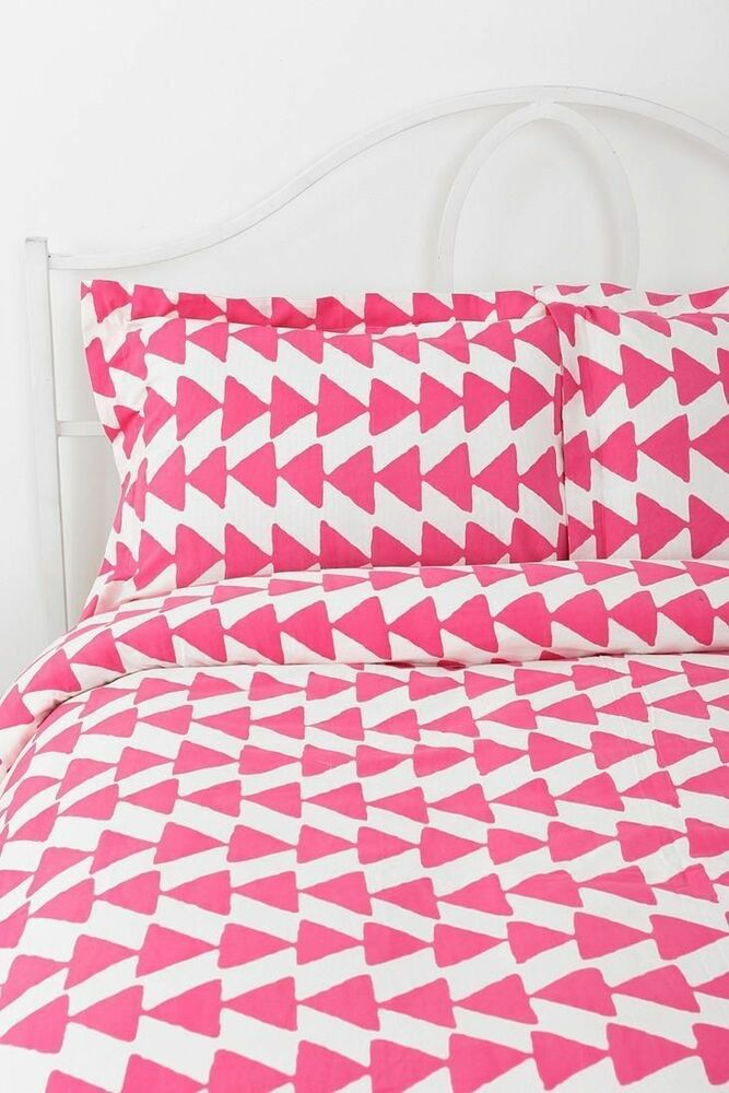New Urban Outfitters Magical Thinking Pink Arrowhead Duvet