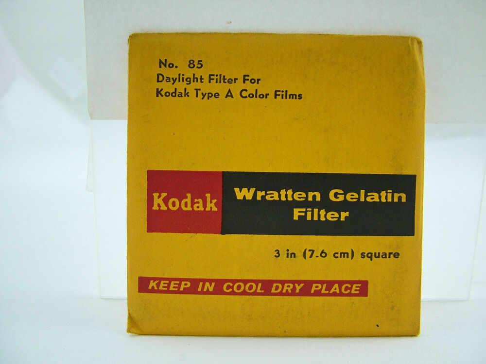 kodak wratten gelatin camera filter 3 inch 7 6 cm square sealed ebay. Black Bedroom Furniture Sets. Home Design Ideas