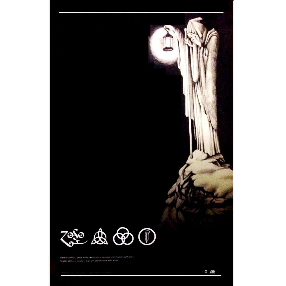 led zeppelin iv zoso houses of the holy ltd ed discontinued rare litho poster ebay. Black Bedroom Furniture Sets. Home Design Ideas