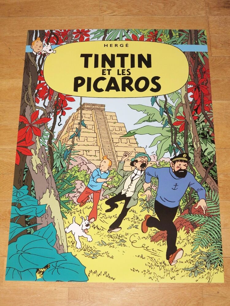 TINTIN POSTER LARGE - ET LES PICAROS / AND THE PICAROS ...
