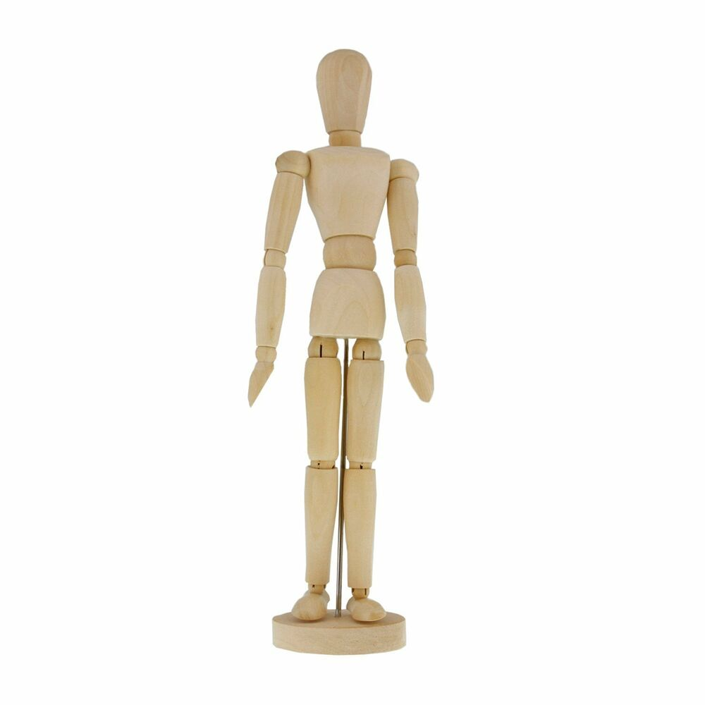 It is a photo of Nifty Wooden Drawing Mannequin