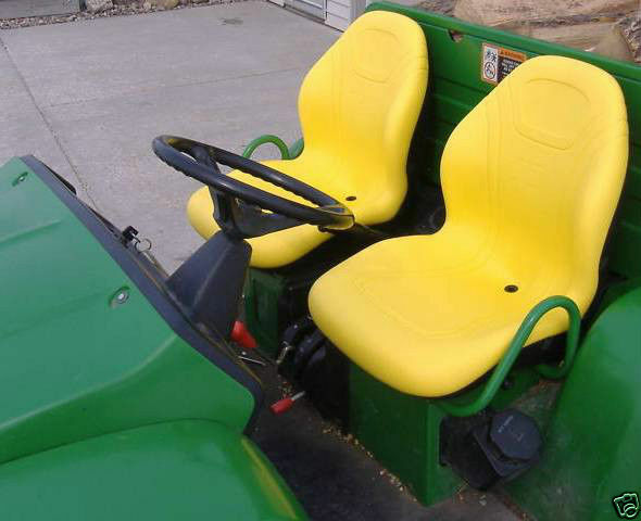 John Deere 850 Tractor Seat : Pair of high back yellow seats d i