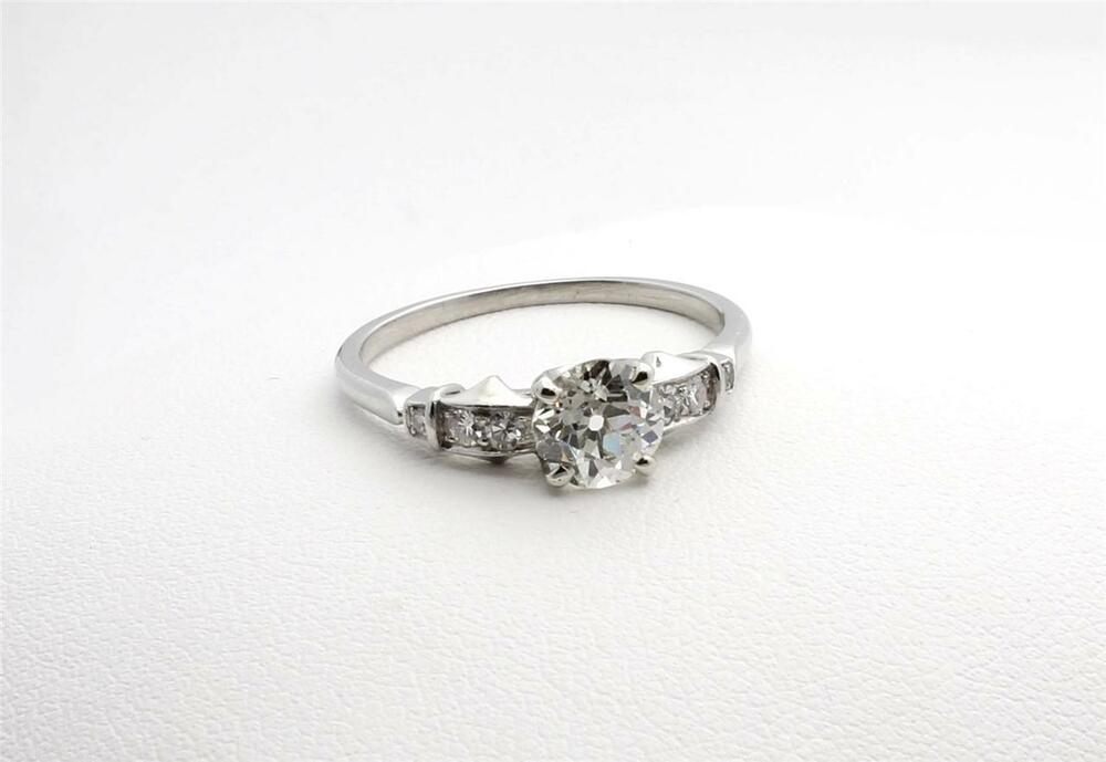 antique platinum engagement ring ebay