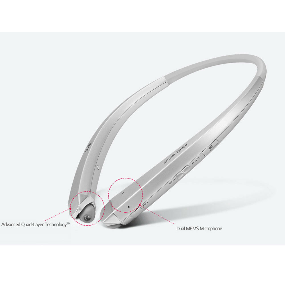lg tone plus hbs 900 bluetooth stereo headset harman kardon sound silver color ebay. Black Bedroom Furniture Sets. Home Design Ideas
