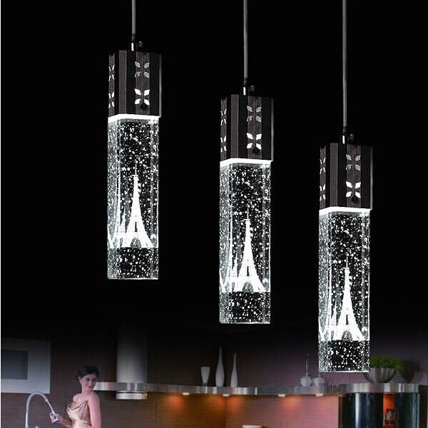 Crystal Ceiling Light New Tower LEDBubble Bar Pendant Lamp