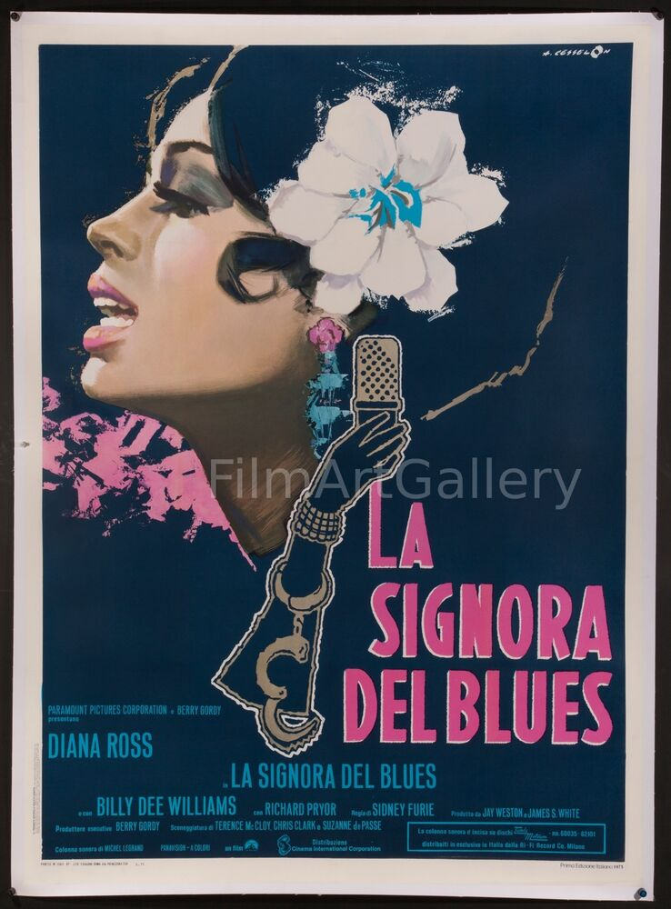 "LADY SINGS THE BLUES 39""x55"" BEST poster linen-backed ..."