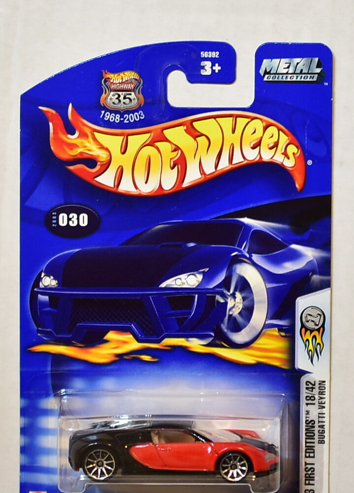 hot wheels 2003 first editions 18 42 bugatti veyron 030 ebay. Black Bedroom Furniture Sets. Home Design Ideas