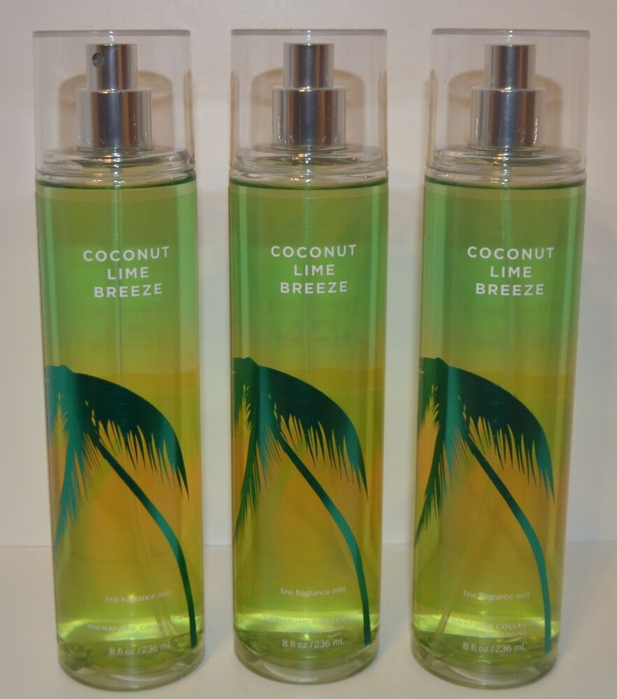 3 bath body works coconut lime breeze fine fragrance for Bath and body works scents best seller