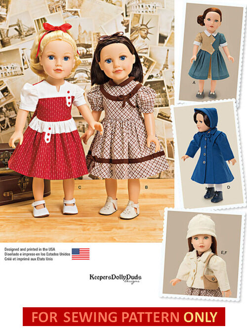 Sewing Pattern Make 40 39 S Style Doll Clothes Fits American Girl Molly Kit Emily Ebay