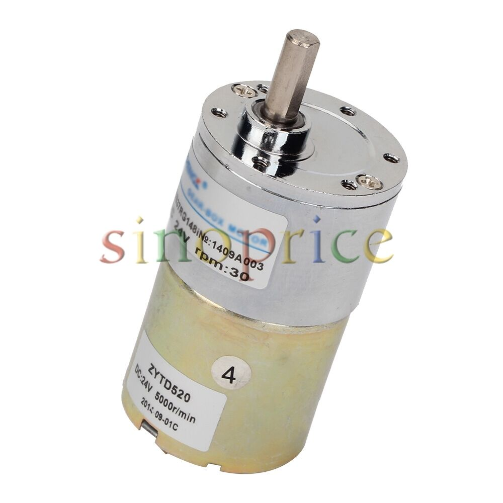 30rpm Dc 24v Reversible Geared Motor Electric Gear Box