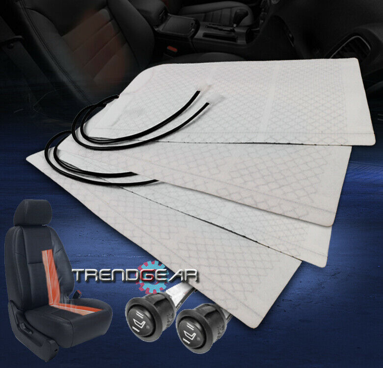 Rectangle Hi Off Lo Switch Seat Heater 4 Seats Install: 2X HEATED SEAT HEATER PAD KIT+ROUND HI/LOW SWITCH INTREPID