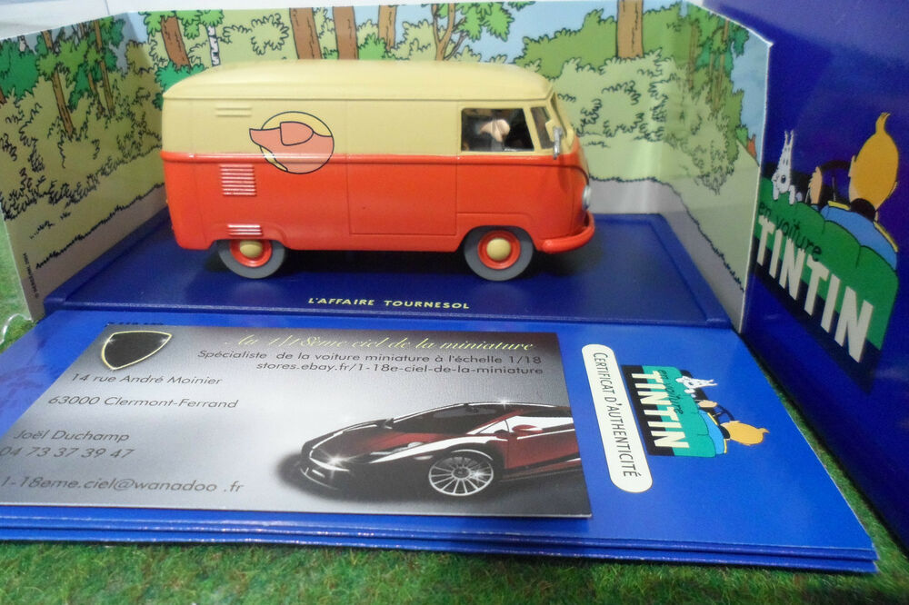 voiture miniature tintin volkswagen combi 1950 au 1 43 herge moulinsart 2118032 ebay. Black Bedroom Furniture Sets. Home Design Ideas