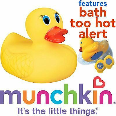 Munchkin Baby Safety Bath Too White Hot Yellow Ducky Toy Temperature Indicato