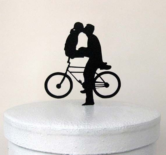 bicycle wedding cake topper uk wedding cake topper bicycle mates ebay 11736