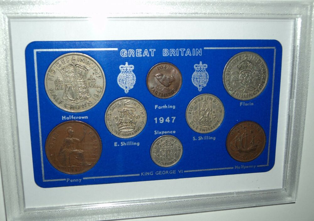 70 Year Wedding Anniversary Gifts: 1947 Vintage Coin Set 70th Birthday Birth Year Present