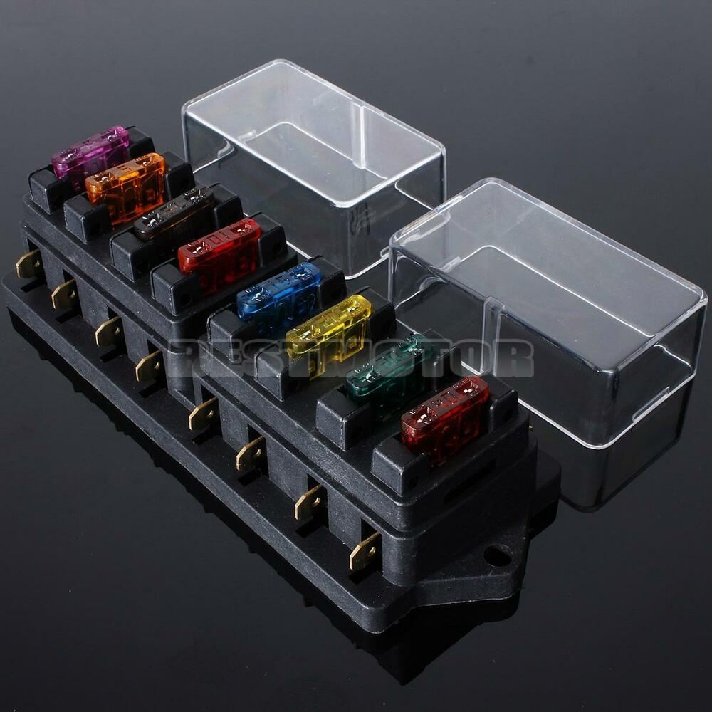 universal car 8 way circuit ato standard blade fuse build ... painless universal fuse box universal fuse box car