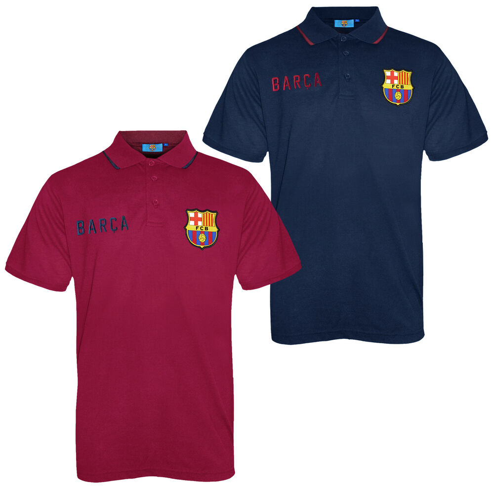 fc barcelona official football soccer gift mens crest polo shirt navy blue ebay. Black Bedroom Furniture Sets. Home Design Ideas
