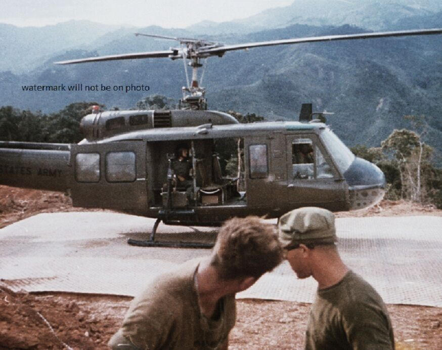 """Huey Helicopter For Sale >> Bell UH-1D Helicopter at Fire Support Base 8""""x 10"""" Vietnam War Photo 182 