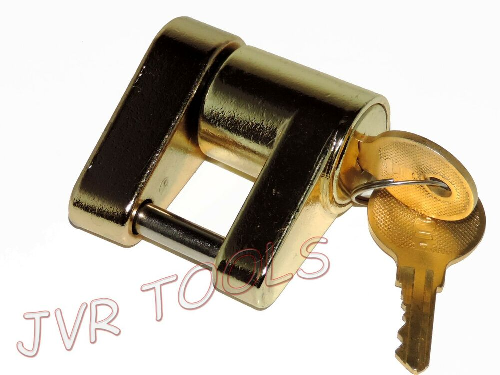 Trailer Coupler Locking Pin : Trailer coupler receiver tow hitch lock brass