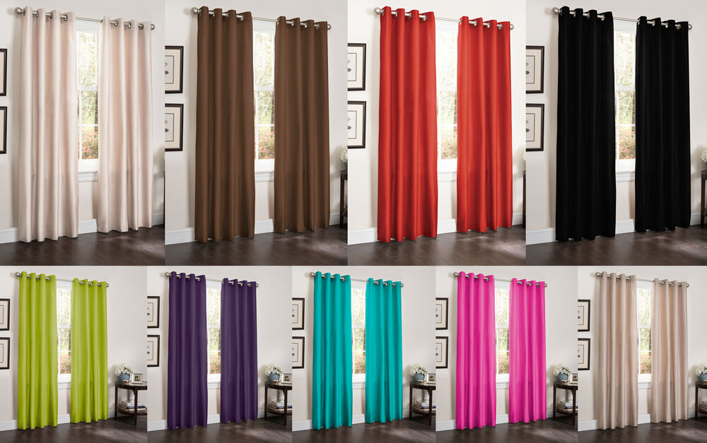 Bamboo grommet curtains