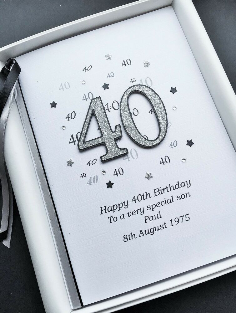 40th BIRTHDAY CARD For MEN PERSONALISED Son Husband Boyfriend Brother Gift Boxed Feesten Speciale Gelegenheden