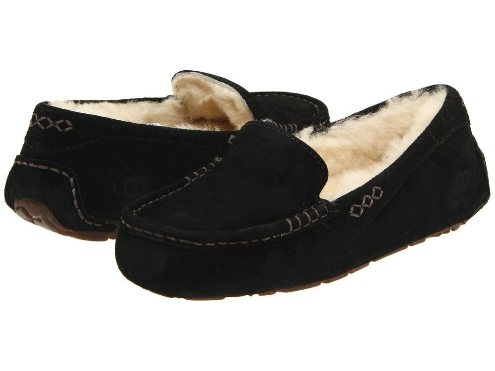 s shoes ugg ansley moccasin slippers 3312 black 5 6