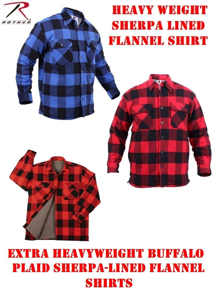 Extra heavyweight shirt brawny buffalo plaid solid for Flannel checked long sleeve shirt