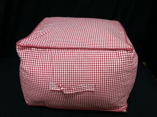 Pottery Barn Kids Teen Beanbag Table Square Chair Cube Red