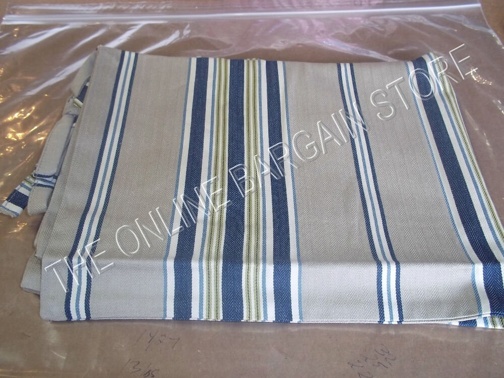 Pottery Barn Navy Blue Celeste French Stripe Bed Sham