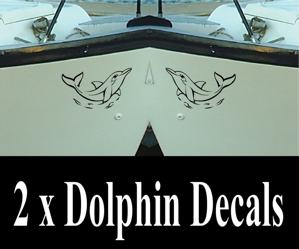 Dolphin Decals X 2 For Boat Car Etc Stickers Graphics