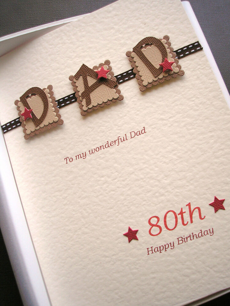 PERSONALISED 80th BIRTHDAY CARD FOR MEN DAD HUSBAND GRANDAD – Dad 80th Birthday Card