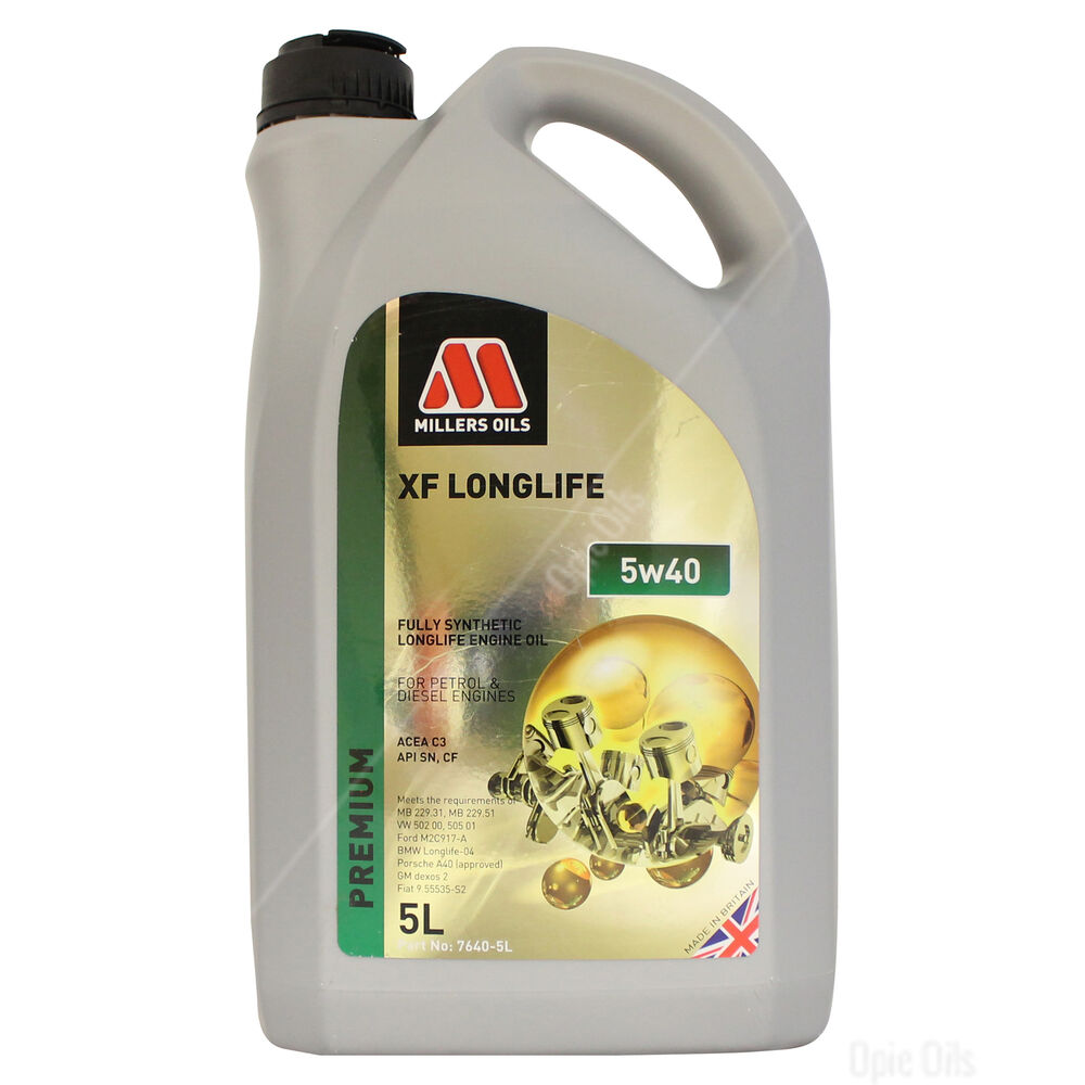 Millers Oils Xf Longlife 5w 40 Full Synthetic Engine Oil
