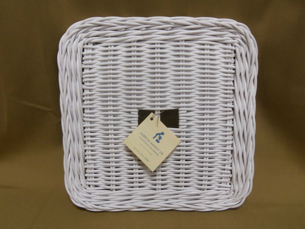 Wicker Toy Basket With Lid : Pottery barn kids large sabrina wicker woven toy storage