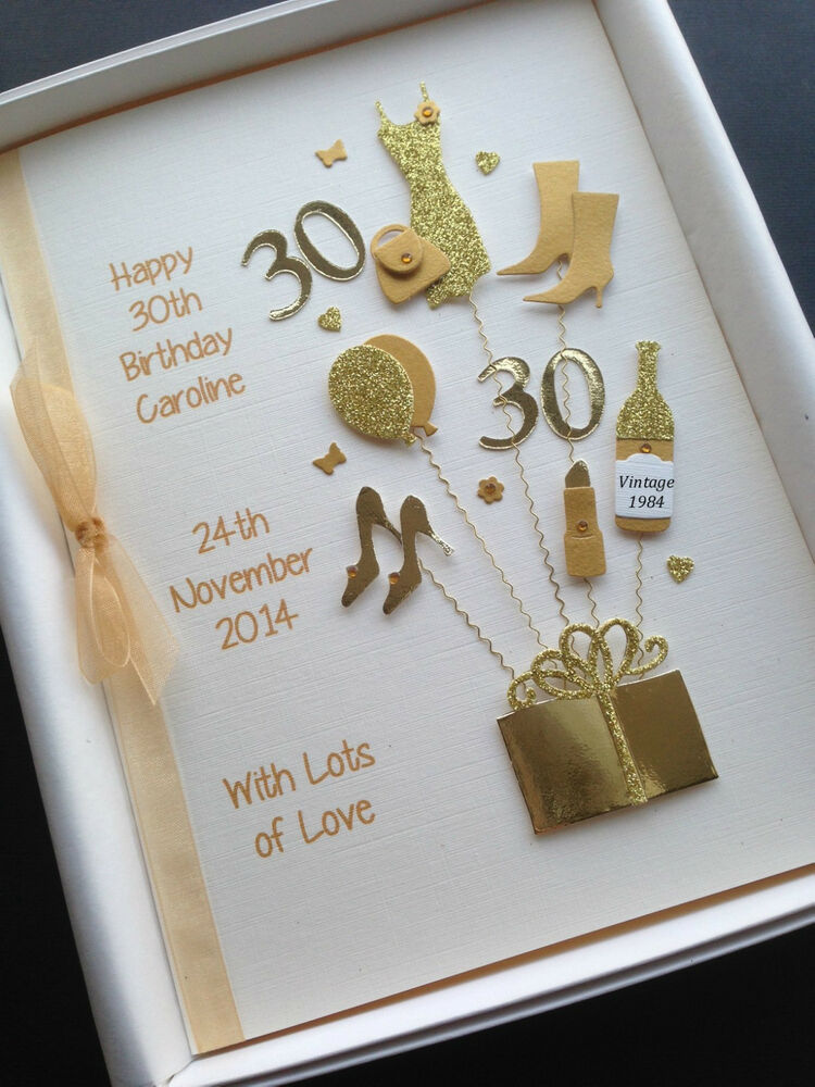 PERSONALISED 30th BIRTHDAY CARD FOR DAUGHTER WIFE SISTER ...
