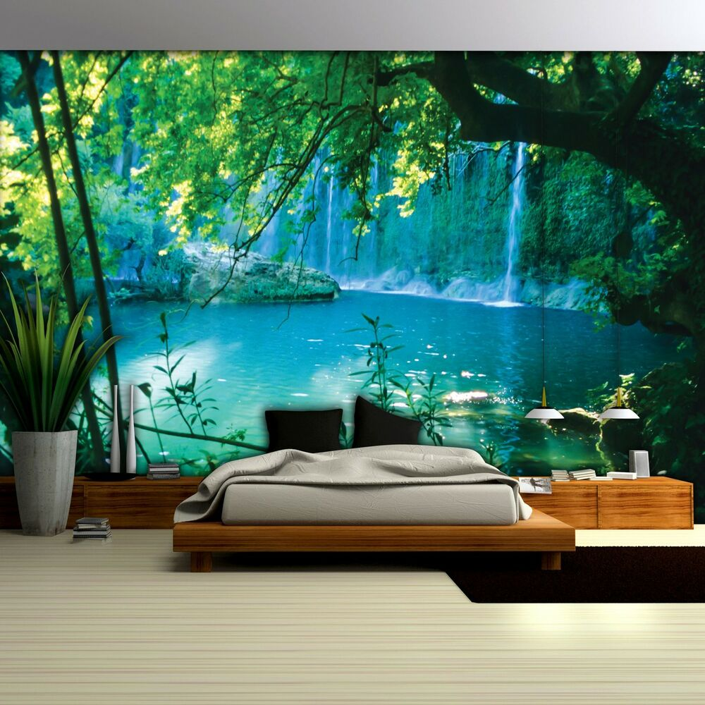 fototapete fototapeten tapete tapeten poster wasser wasserfall see 1783 p4 ebay. Black Bedroom Furniture Sets. Home Design Ideas