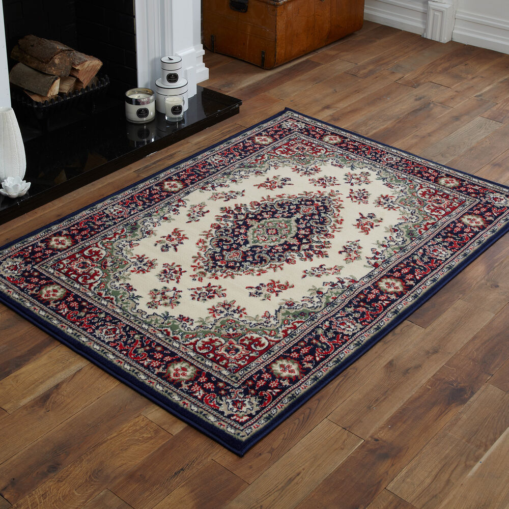 large extra large medium small traditional navy blue cream On best large rugs